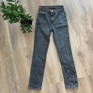 """BDG Washed Grey """"Girlfriend High-Rise"""" Jeans"""